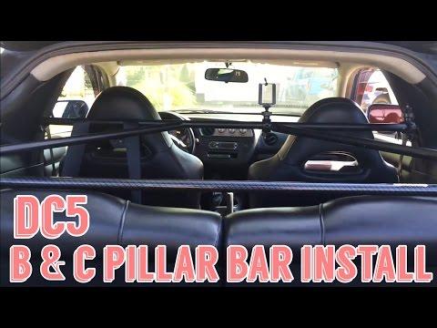 DC5 / RSX B Pillar - C Pillar Bar Install Suspension / Chasis Upgrade - Harness Bar