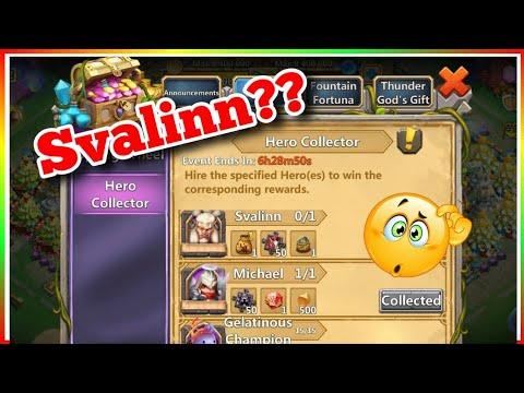 70k Gems Hero Collector For SVALINN Castle Clash