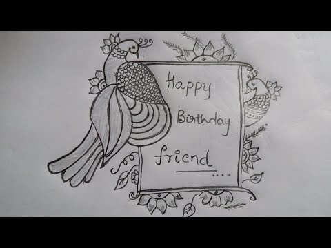 Best Greeting Card Design Simple Pencil Sketch For Greeting Invitation Cards Peacocks Sketch Youtube
