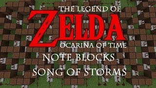 Song of Storms | Zelda:Ocarina of Time | Minecraft Note Blocks & Tutorial:Notes | PC, XBOX, PS3