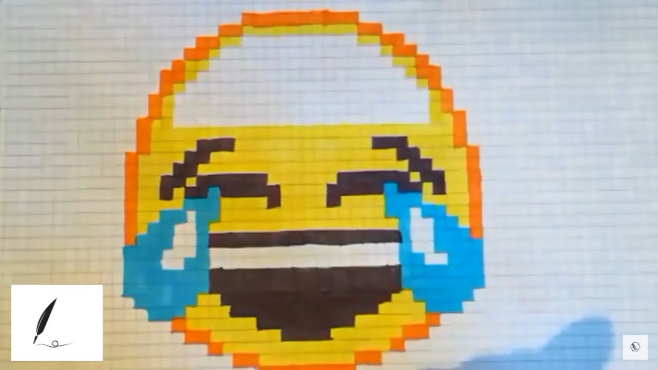 Comment Dessiner Un Emoji Qui Pleure De Rire Pixel Art Tuto Fr
