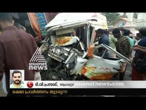 Tempo Traveller - Lorry accident in Alappuzha