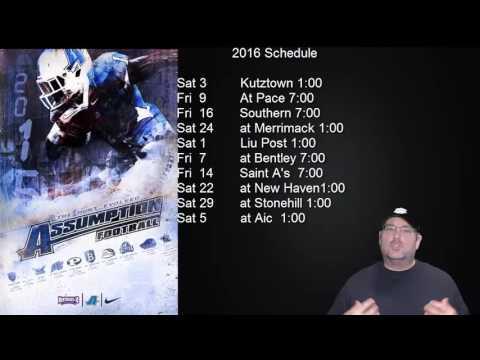 Assumption College Football Schedule
