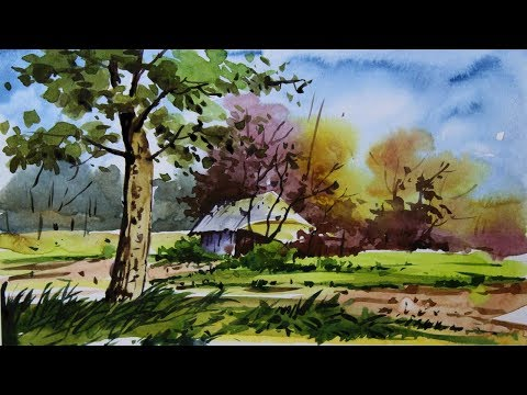 How to Paint – Watercolor Landscape Painting for Beginners
