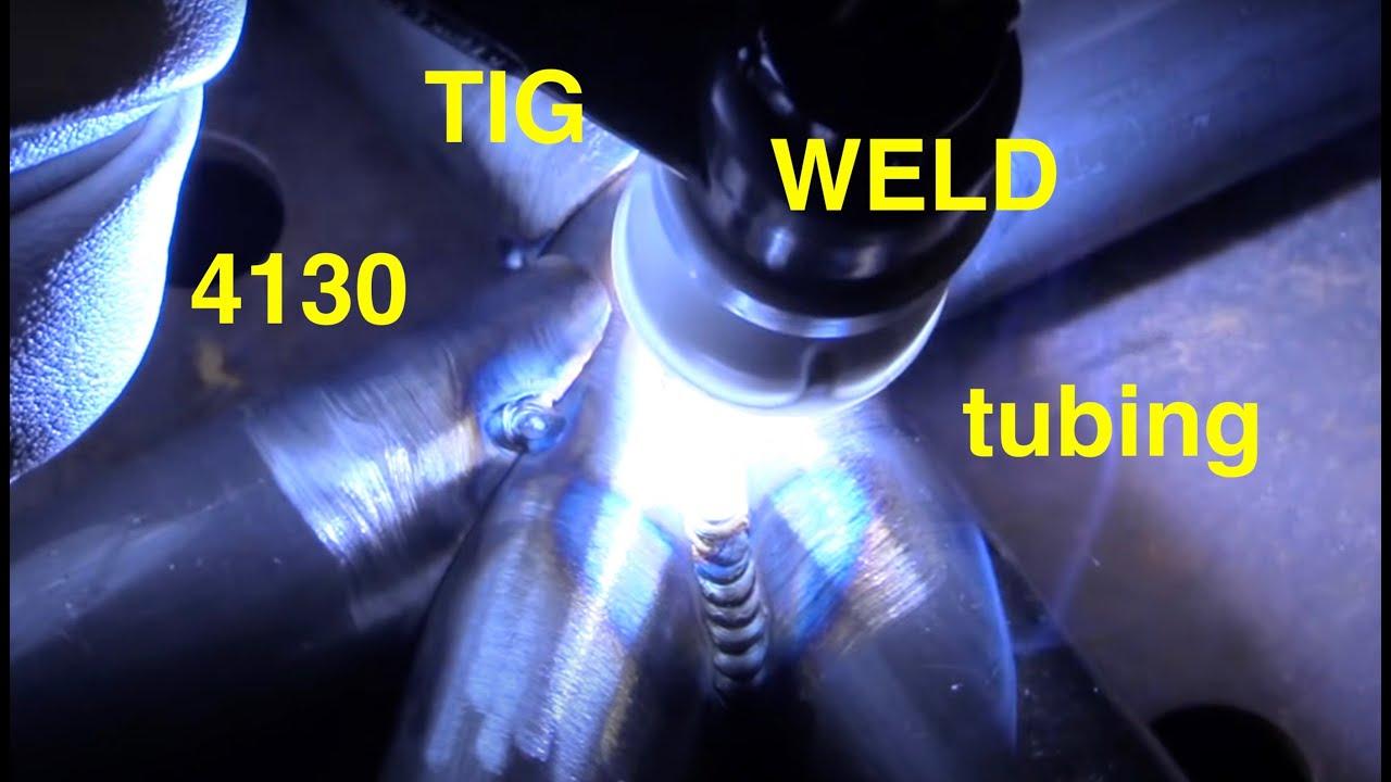 Tig Welding 4130 Chromoly Tubing Youtube