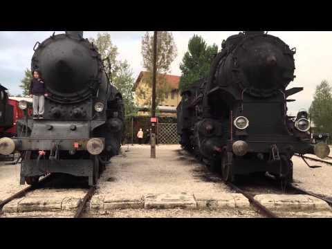 Walk around locomotives at Hungarian Railway Museum - HD 4K
