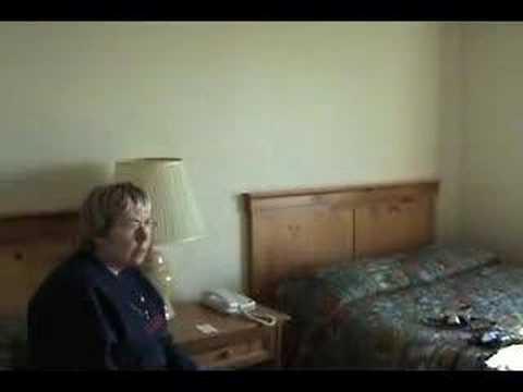 Our room in a Barrow, Alaska hotel.