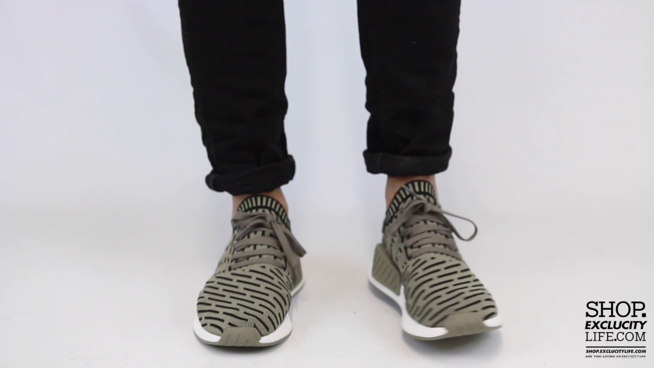 Adidas NMD R2 Olive On feet Video at Exclucity - YouTube cf9f68f40