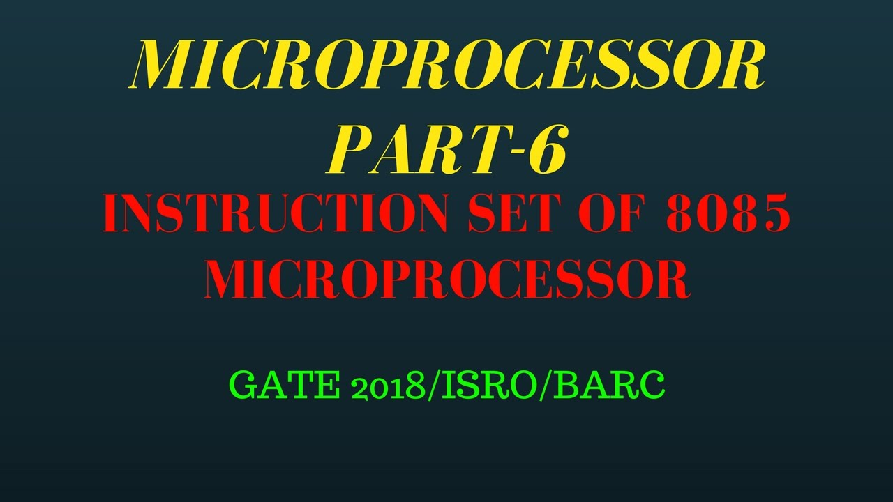 MICROPROCESSOR 8085 NPTEL EBOOK DOWNLOAD