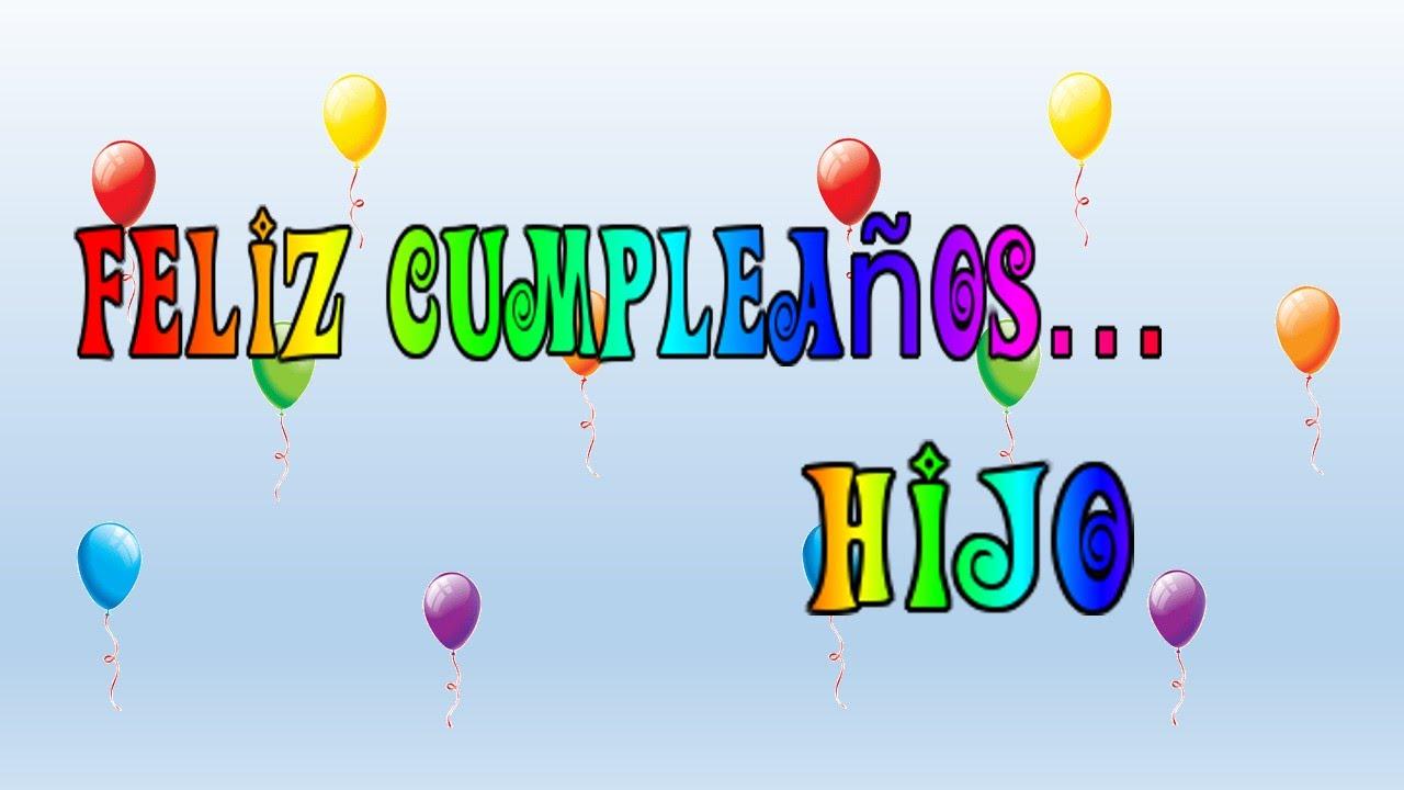 Tarjeta virtual animada de Feliz cumpleaños hijo YouTube