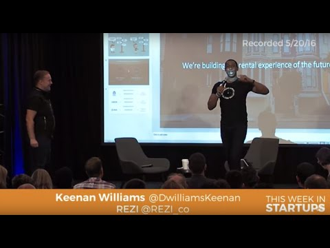 Keenan Williams of REZI pitches his digital rental marketplace app to Jason