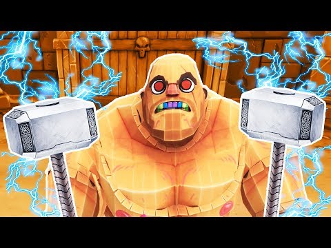 Destroying Gladiators with Mjolnir and Lightning! Mods!  - Gorn Gameplay - VR HTC Vive Pro
