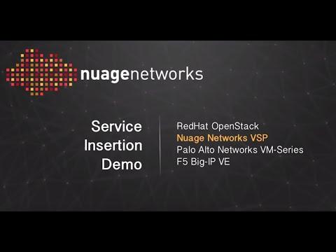 Nuage Networks VSP, Palo Alto Networks Virtualized Firewall and F5 Big-IP VE Demonstration