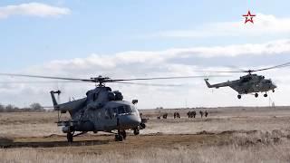 Учения воздушного десанта ЧФ в Крыму