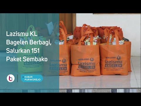 Lazismu KL Bagelen Berbagi, Salurkan 151 Paket Sembako