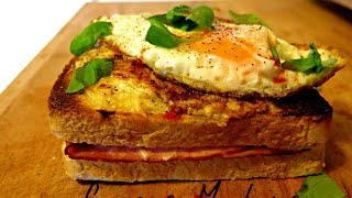 How to make Croque Madame - Stop Motion Cookery
