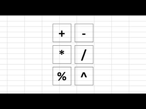 Arithmetic Operators in Excel - Easy Explanation of Each Operator with Examples