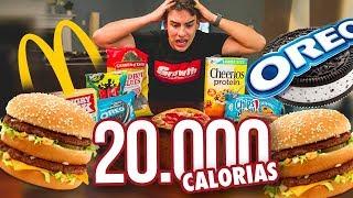 Dia do LIXO: 20.000 Calorias | O Desafio
