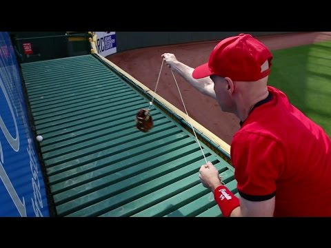 Getting interviewed on TV and catching a home run at Great American Ball Park