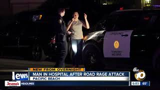 Man beaten with baseball bat in Pacific Beach road rage attack