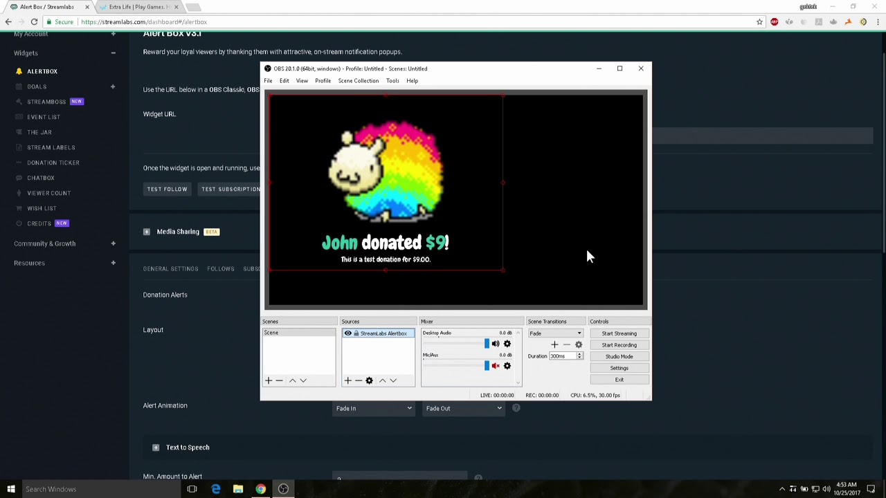 How to see Extra Life donations via StreamLabs