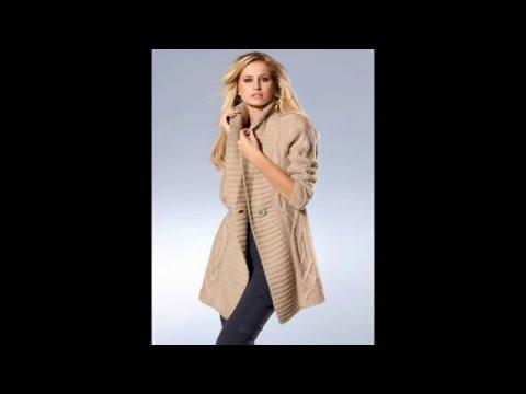 Cмотреть видео онлайн С чем носить женские кардиганы. Стильная одежда - модная коллекция 2016 года.