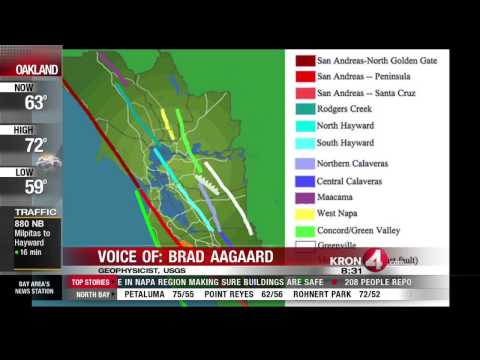 USGS Says Duration of Napa Quake Depends on Where You Were