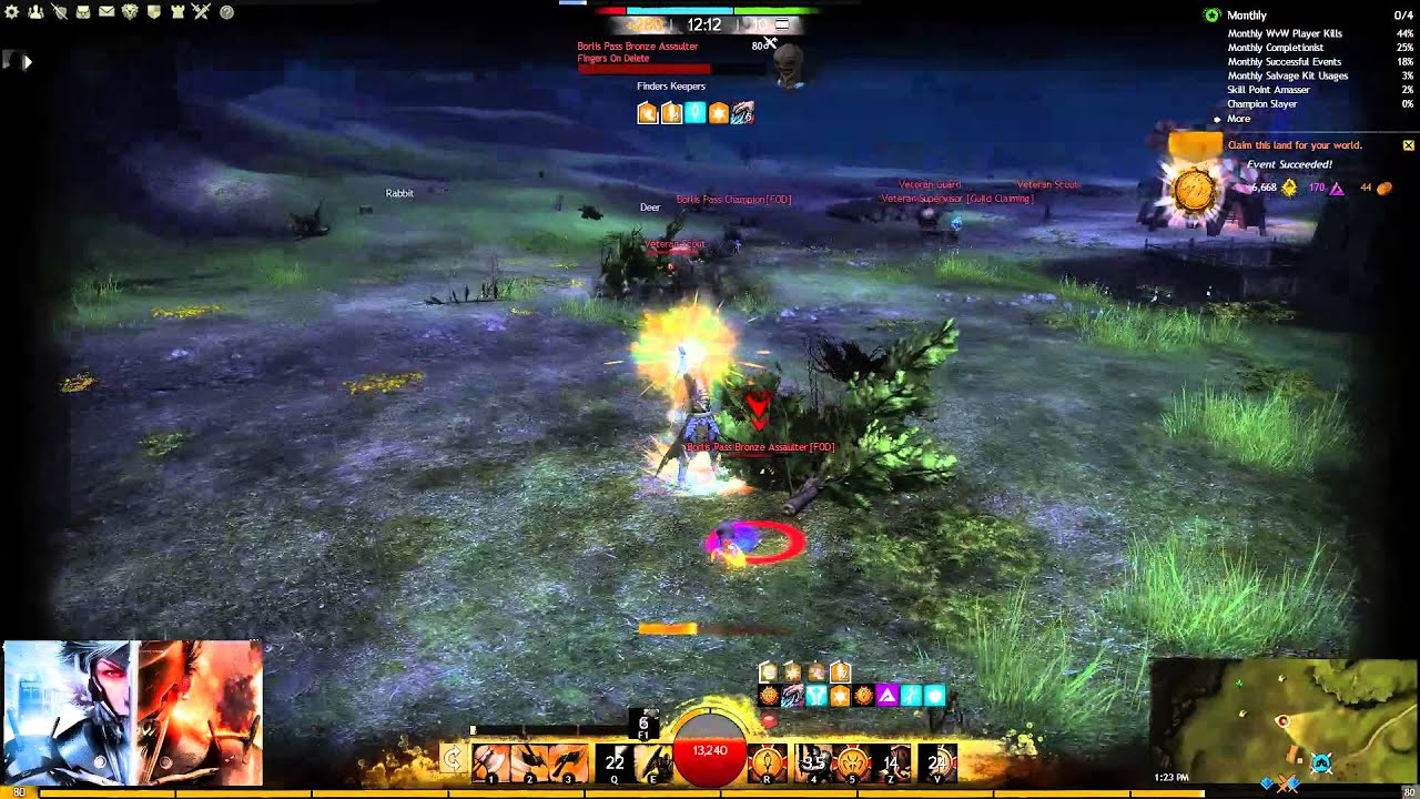Guild Wars 2 WvW Berserker Warrior (I Rising Raiden I) Solo