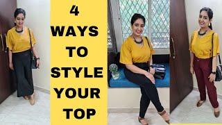 4 DIFFERENT WAYS TΟ STYLE 1 CROP TOP | Outfit ideas | Style Ideas 2021 | StunningGeet