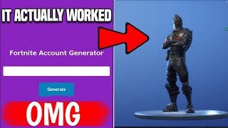 I Used Fortnite Account Generator And Got The Black Knight