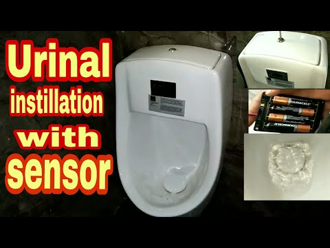 #URINAL Installation With Sensor. Standard Plumbing Work. By Sk Iklak Azad.