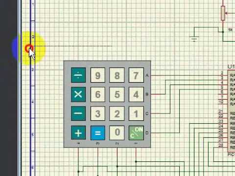 Matrix Keypad interfacing with PIC Microcontroller in Proteus [Step by Step]