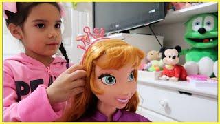 Sam and Anna  Makeup and Haircut Story