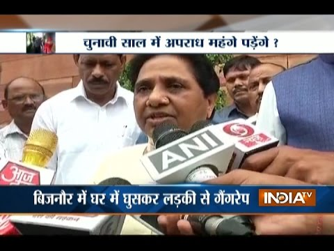 BSP Supremo Mayawati Attacks CM Akhilesh Over Failure in Law and Order in UP