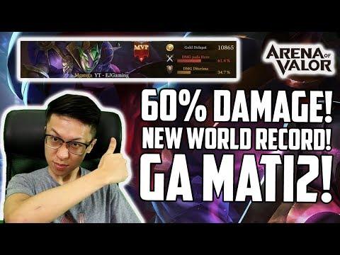 Mganga New World Record! 60% Damage Tim! Hero Pemula yang WOW! Susah MATEENYAA!