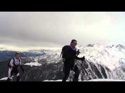 Salita scialpinistica al Meriggio in Albosaggia in Valtellina