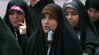شعرخوانی جنجالی سرکار خانم طیبه عباسی در حضور رهبری