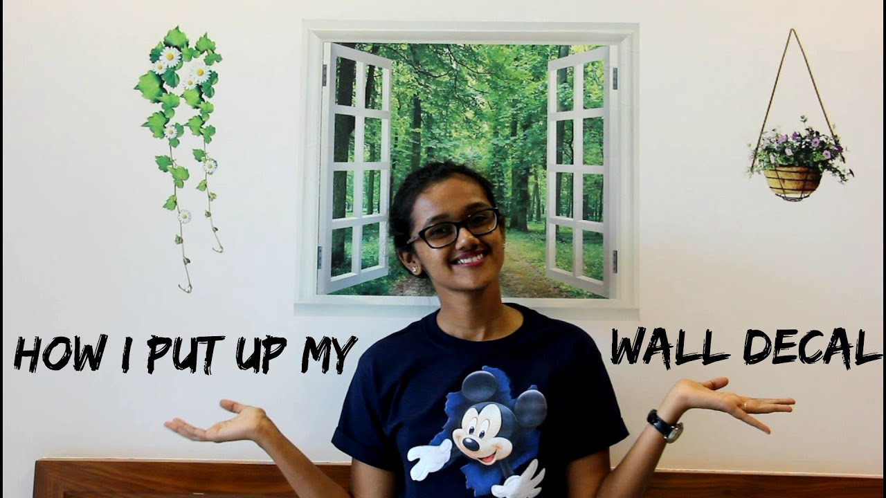 How I Put My Wall Decal Disha Gangar YouTube - How to put a decal on my wall