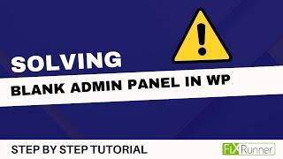 Admin page blank login wordpress Login page
