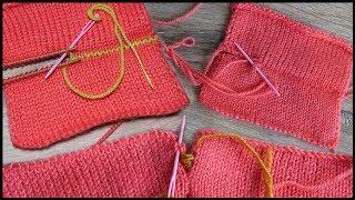 Трикотажные швы петель лицевой глади | Grafting with knitting off the needles