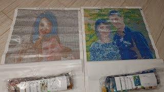 Два шикарных портрета из страз! Пример идеальных фото для алмазной мозайки. Вышивка с алиэкспресс(, 2018-05-15T09:13:31.000Z)