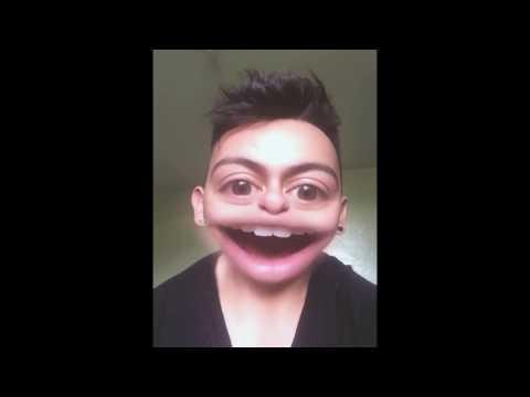 La cara graciosa, (Descubriendo un efecto) efecto de Snapchat, el video más visto de YouTube