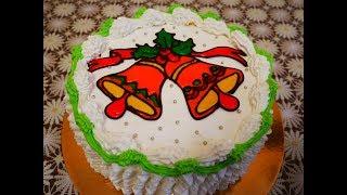 Торт ГАЛАРЕТКА рецепт торта ВКУСНЫЙ торт БЫСТРО и КРАСИВО украшаем МК по использованию ДЕКОР ГЕЛЯ