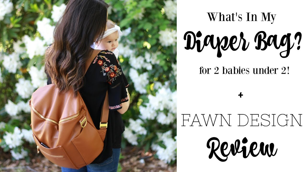 What S In My Diaper Bag For 2 Babies Under Fawn Designs Review