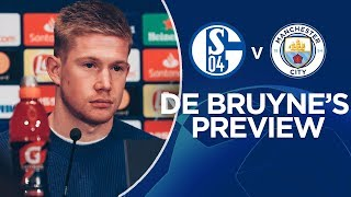 Kevin De Bruyne Previews FC Schalke 04 Clash | Champions League | FC Schalke 04 v Man City