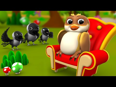 The Crow And Owl Fight 3D Animated Hindi Fairy Moral Stories For Kids कौवा और उल्लू की लड़ाई कहानी