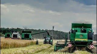 Wielkie Żniwa 2019   5 x John Deere   1 x Claas Lexion    Big Harvest in Poland    OHZ GARZYN