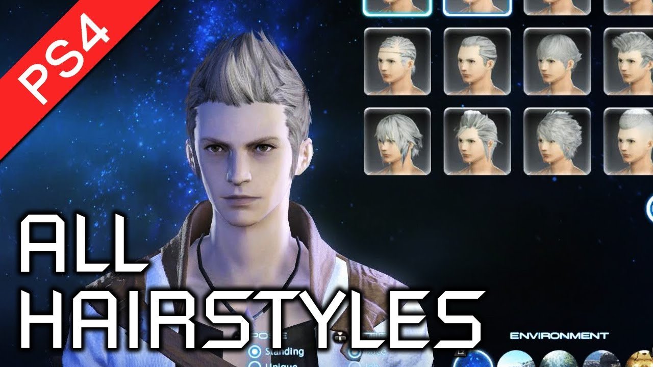 Final Fantasy XIV: A Realm Reborn (PS4) - All Male Hairstyles in ...