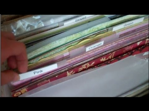 Organizing Patterned Paper By Use It Scrapbooking Youtube