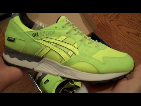 asics gel lyte v gtx hazard neon yellow